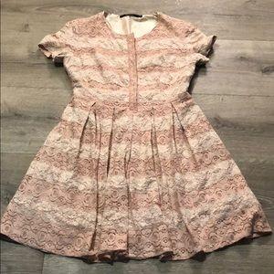 Ark &Co Blush & Pink Intricate Lace Babydoll Dress